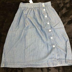 Loft Blue Jean Print Skirt